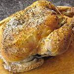 Вкусная фаршированная курица