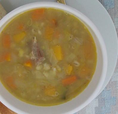 Швейцарский суп с перловой крупой
