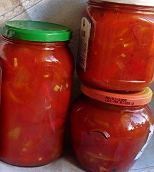 рецепт салата лечо с помидорами