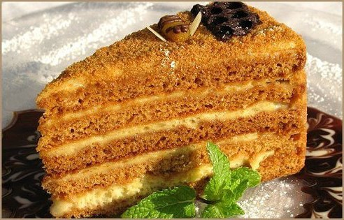 Рецепты медового торта с фотографиями