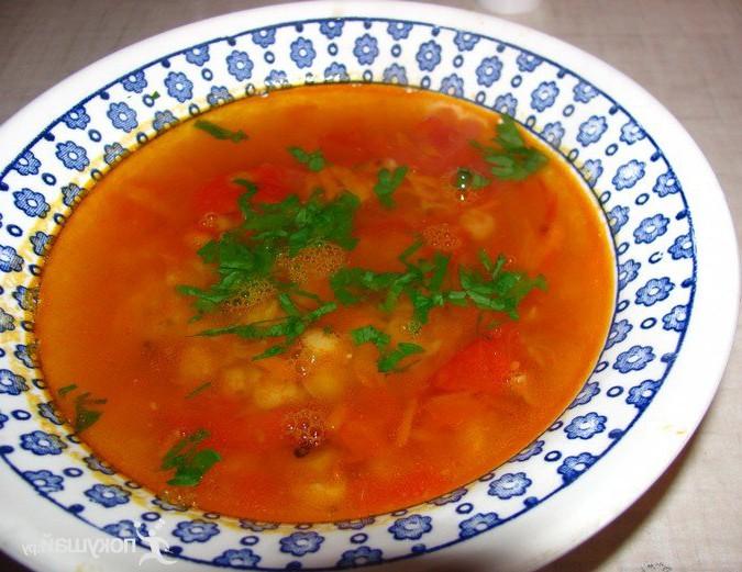 Томатно-гороховый суп