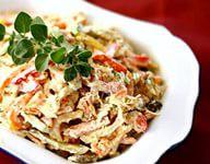 Салат с куриным мясом и зеленью