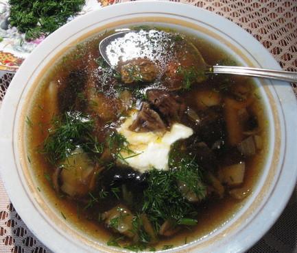 Грибной суп из сухих грибов
